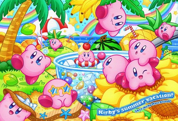 Kirby Mass Attack. One of the few Kirby games I didn't finish. :( I couldn't get into it even though the art was cute as always.