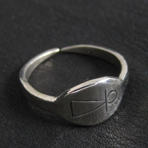 Silver Phoenician Tanit goddess ring from The Sunken City by DaWanda.com