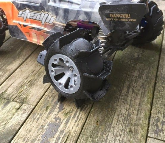 3D printable snow wheels for your RC vehicle