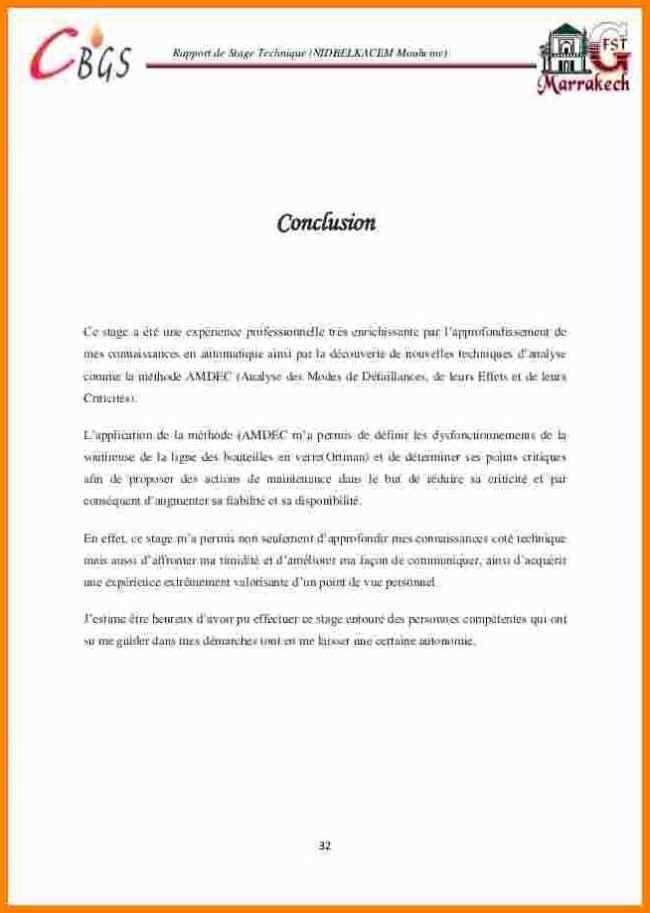 12 Conclusion Rapport De Stage Gouvernoratmaniema En 2020 Exemple De Remerciement Rediger Un Rapport Stage