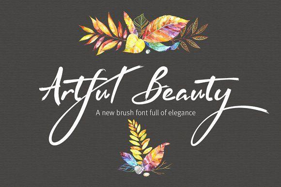 Artful Beauty brush font by Joanne Marie on @creativemarket