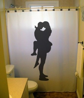 Sexy lovers shower curtain bathroom decor bath romantic for Hot bathroom