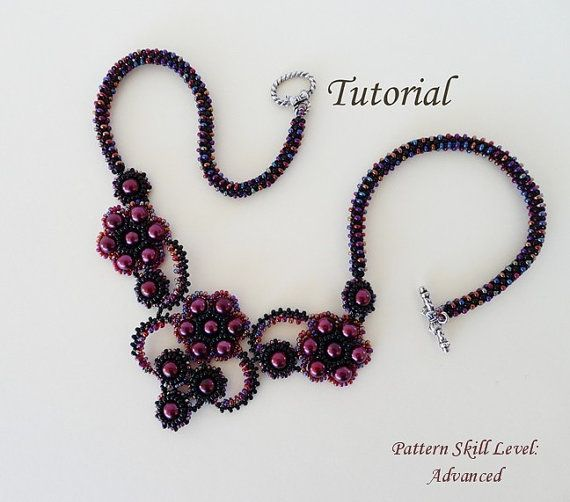 Beading pattern tutorial beadweaving beaded seed by PeyoteBeadArt