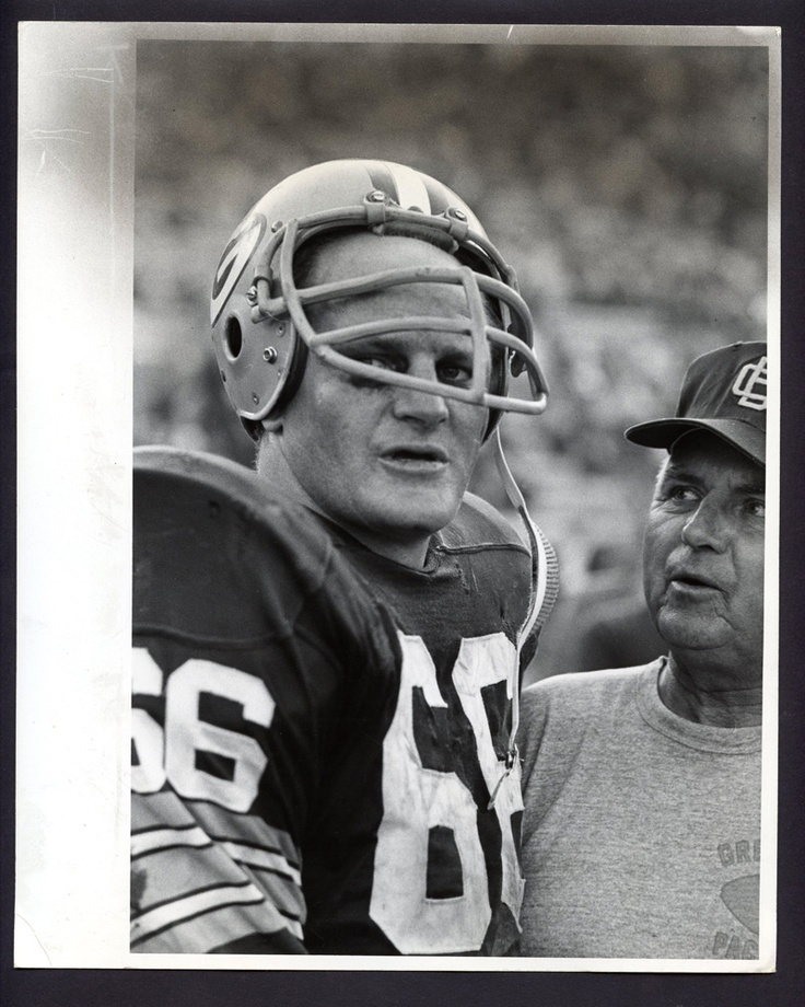 Ray Nitschke, no. 66, middle linebacker for the Green Bay Packers.  My favorite football player ever.