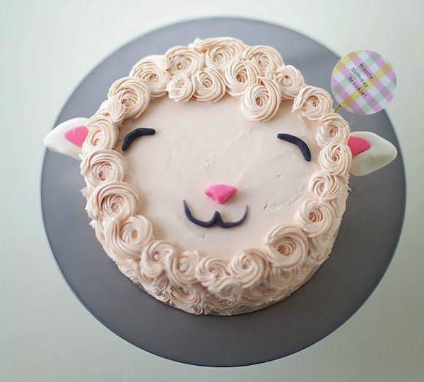 tarta facil de cumpleaños oveja
