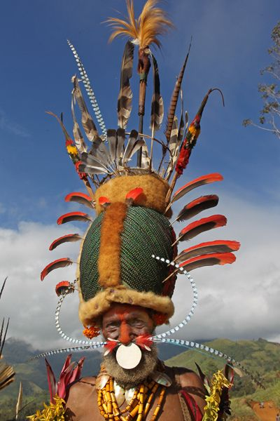 Papua New guinea . Kalam tribe