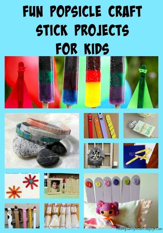 The fun popsicle craft stick projects are perfect for kids and will keep them entertained for hours. #DIY