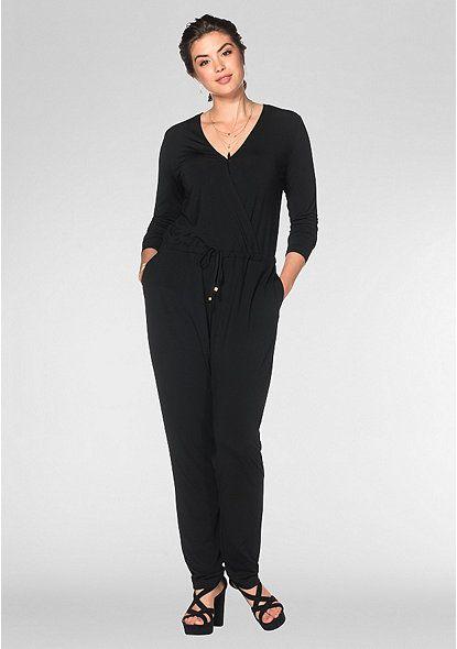 sheego Style Jumpsuit – schwarz