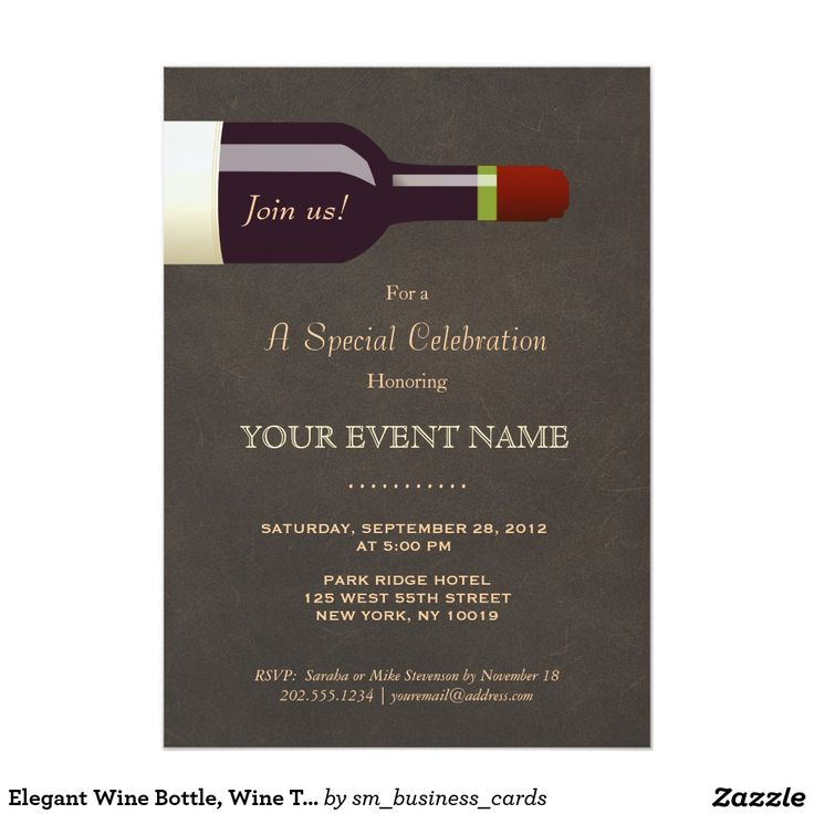 7 best wine party images on Pinterest Zazzle invitations, Wine - best of formal business invitation card