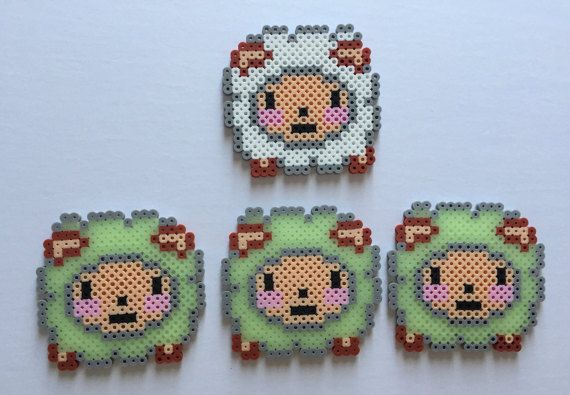 Glow-in-the-Dark Counting Sheep Set Perler Bead by PixelPrecious