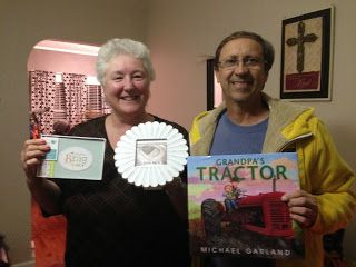 Our pregnancy annoucement for in-laws / parents Grandma's Brag book and Grandpa's Tractor book Our Suburban Farm: Baby on Board
