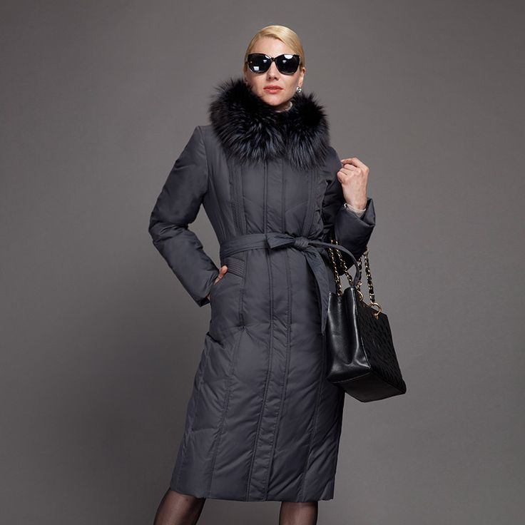Decently 2015 куртка зимняя женская Пуховик толстый парка длиный блузки женские пальто RUS Бесплатная Доставка Большой размер натуральный мех лисы пальто для старших женщин 7191-6