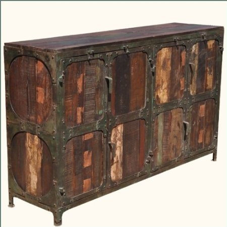 Industrial Iron Rustic Old Reclaimed Wood Distressed