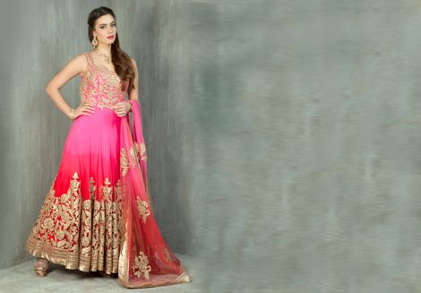 Chase away your mid-week blues with this elegant silk churidar kurta from Benzer. Item number W15-30