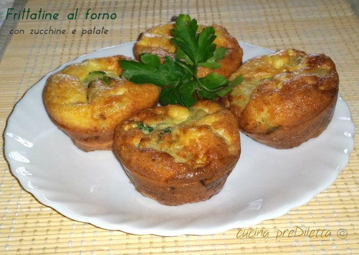 Le frittatine al forno con zucchine e patate sono delle piccole frittate cotte al forno in piccoli stampi (potete utilizzare anche gli stampi usa e getta)..