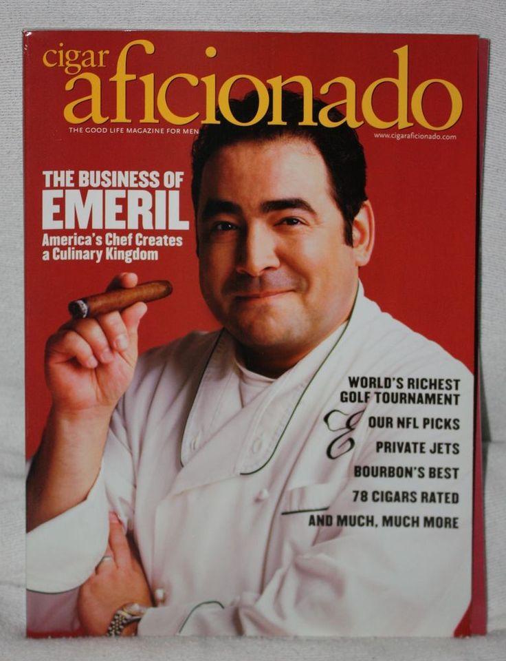 Emeril Lagasse Cigar Aficionado October 2005 The Good Life Magazine For Men