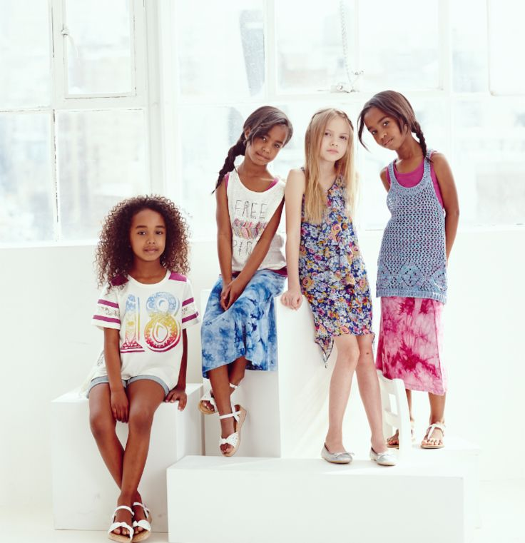 P. Diddy's Daughters Chance And D'Lilia and Jessie Model For Ruum American Kids -