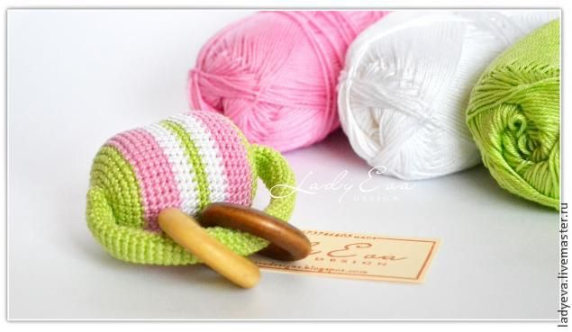 Knitted rattle - Fair Masters - handmade, handmade