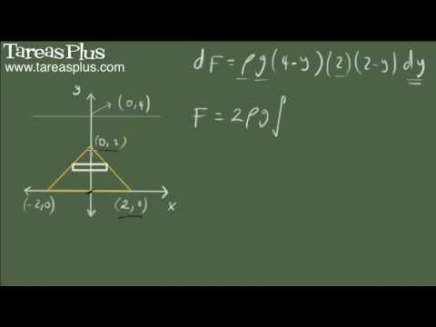 Presión y fuerza ejercida por un fluido ejemplo 2