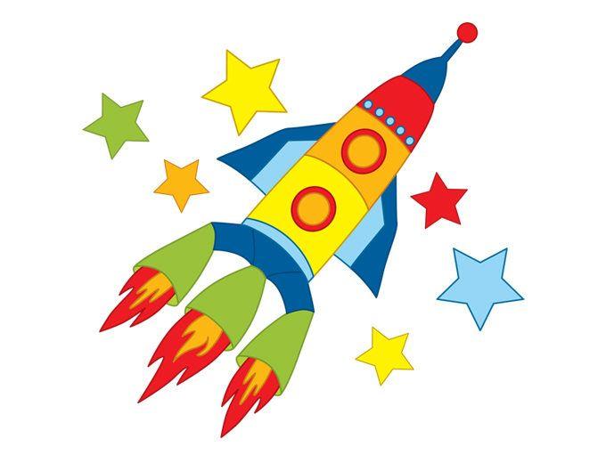 Digital Vector Space Rocket, Space