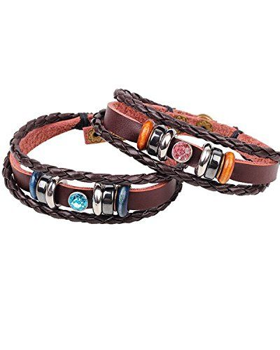 Young & Forever Valentine Special Brown Leather Blue & Purple Stone Couple Valentine Bracelet For Women by CrazeeMania Young & Forever http://www.amazon.in/dp/B00SOK6FPM/ref=cm_sw_r_pi_dp_EHn1ub1MSRYXM