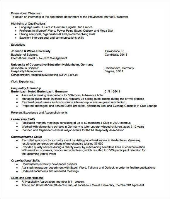 Free 7 Sample Internship Resume Templates In Pdf Ms Word In 2020 Resume Template Internship Resume Downloadable Resume Template