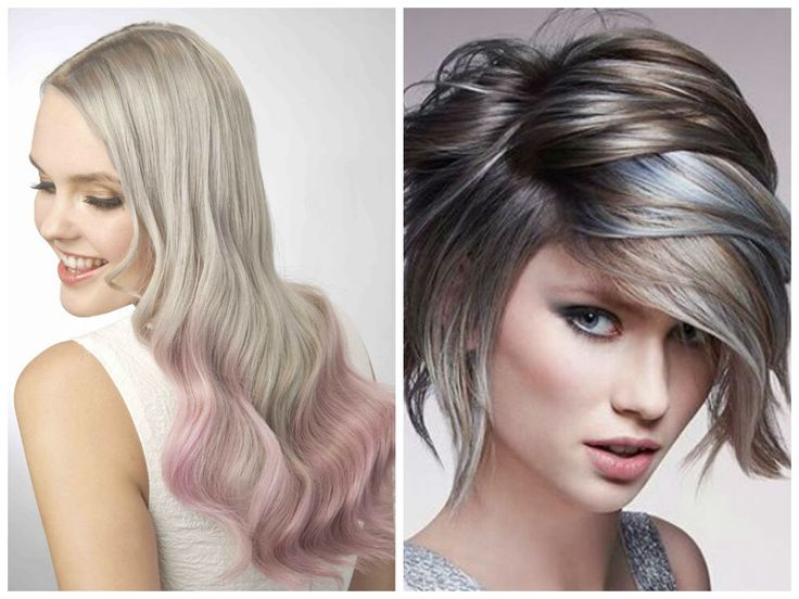 hair color with highlights ash color ideas ash with pastel highlights 12670