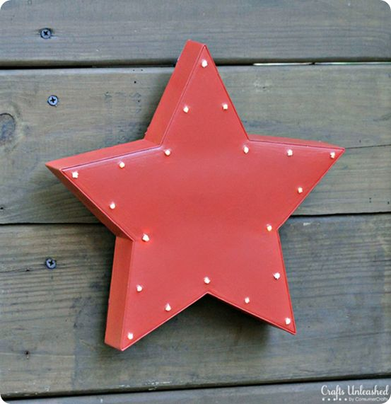 Upcycled Light Up Star Wall Décor