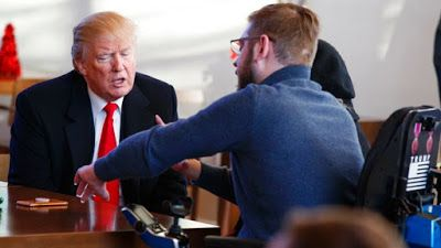 """*""""Trump visits wounded veterans, awards Purple Heart at Walter   Reed."""" By Nicole Darrah. http://www.foxnews.com/."""