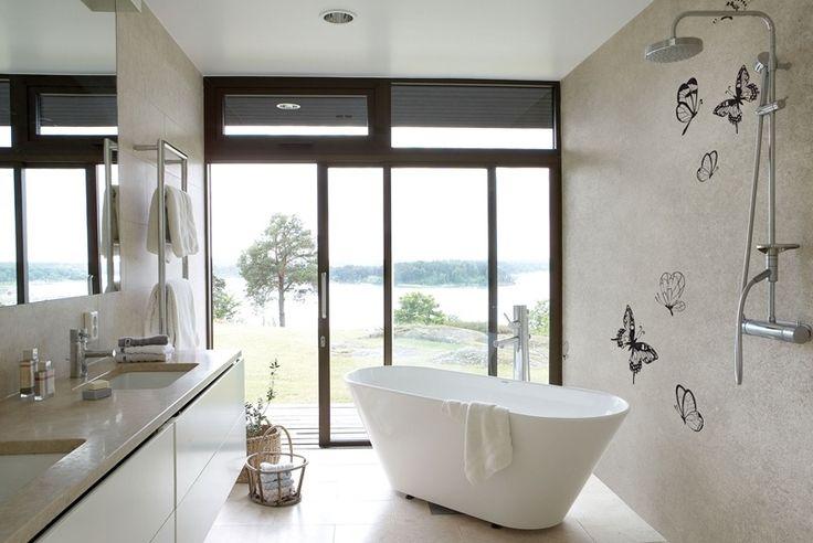behang in de badkamer