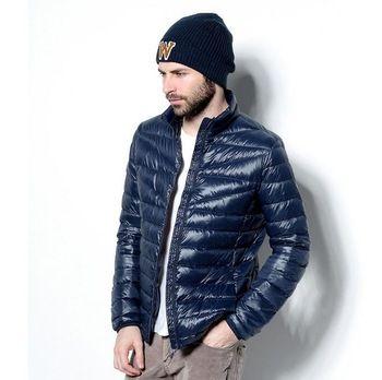 Nieuwe mannen donsjack opvouwbare ultra licht te dragen jas herfst winter parka buidel slanke s-3xl 2