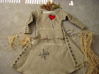 DIY Voodoo Doll costume pieces by pieknits, via Flickr