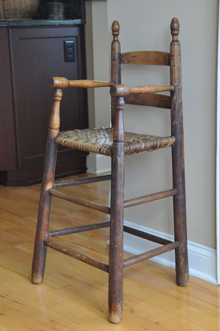 Hester Family high chair from Person County, NC, late 18th century or first half of 19th century.