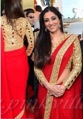 Tabu in Abu Jani Sandeep & Khosla at Golden Globe Awards 2013