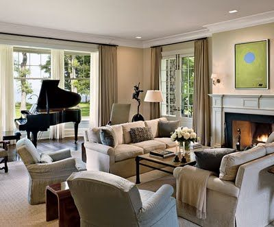 Nice Room Having A Black Grand Piano Helps Little Formal Though