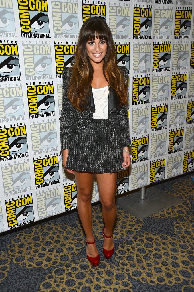 lea: Comiccon 2012, Outfit, Red Carpets, Suits, Fashion Blog, Nicholas Kirkwood, Lea Michele, Hair, Comic Con 2012