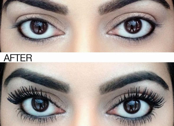 Using a Q-tip coat your lashes with baby powder. Then apply mascara and repeat. The baby powder clings to the lashes making them appear longer and thicker.