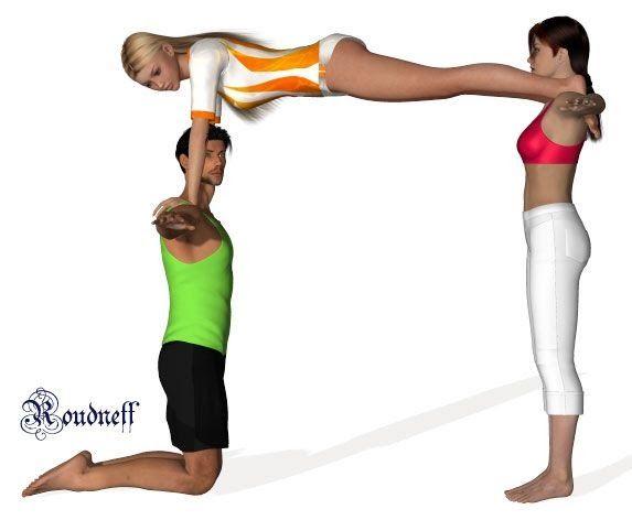 Niveau C Porteur A A Genoux Porteur B Debout Three Person The Kids Yoga Challenge Pose Cards 3 3 Person Yoga Poses Partner Yoga Poses Yoga Challenge Poses