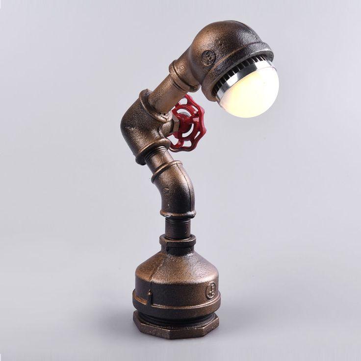 Ржавый Лофт-Винтаж Промышленный робот настольный свет Эдисона Бюро настольная лампа спальня | с eBay