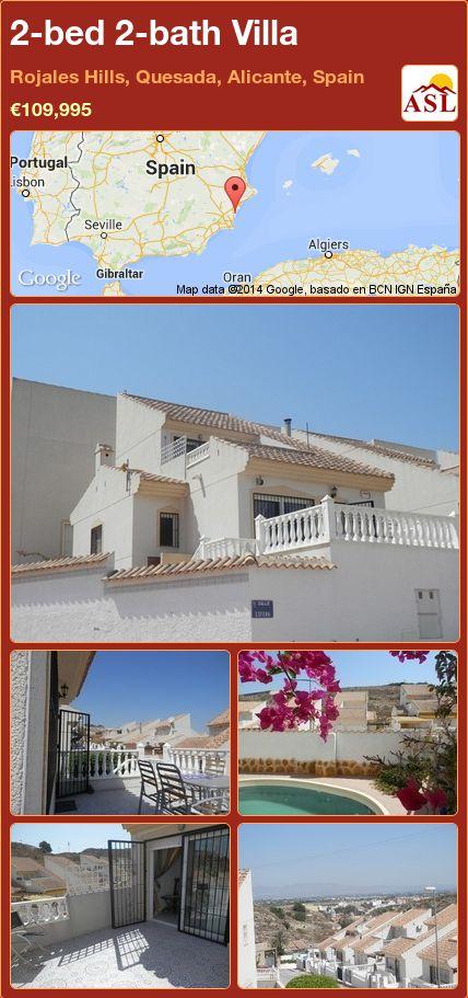 2-bed 2-bath Villa in Rojales Hills, Quesada, Alicante, Spain ►€109,995 #PropertyForSaleInSpain