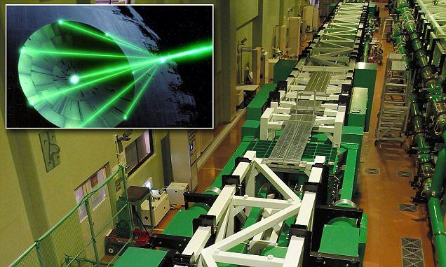 The Death Star weapon is here! Japan fires world's most powerful laser