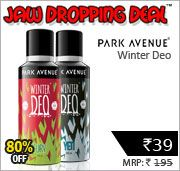 Shopclues is offeringPark Avenue Winter Deo + Rs. 1 Cashback only at Rs. 68.