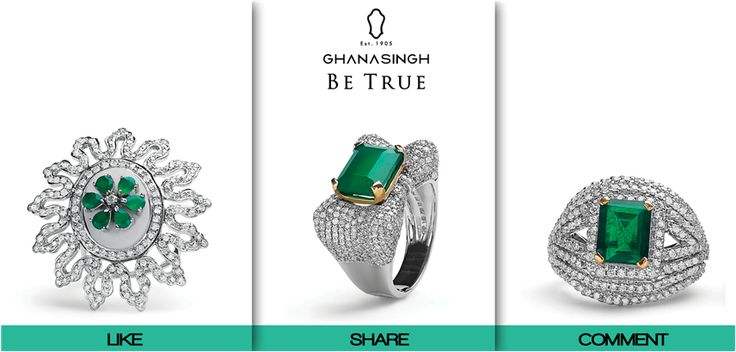 Which of these Exquisite #Emeralds studded rings absolutely rocks your world? We are eager to know!
