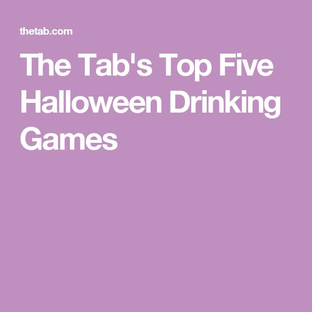 The Tab's Top Five Halloween Drinking Games                                                                                                                                                                                 More