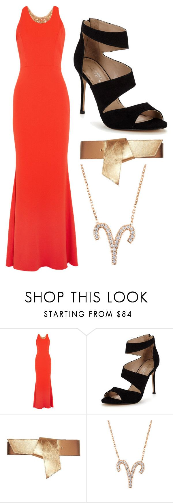 """""""ARIES"""" by ariartist-1513 on Polyvore featuring Notte by Marchesa, Carvela and Maison Boinet"""