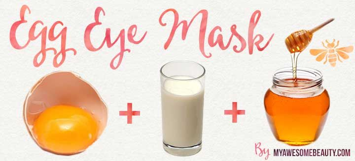egg eye homemade mask
