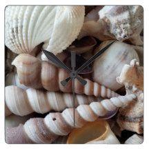 Sea Shells, Summer Beach Exotic Tropical Clock