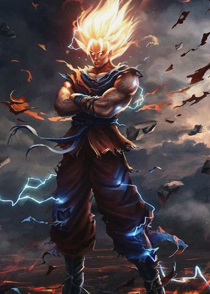 Dragon Ball Z Goku Anime & Manga Poster Print metal