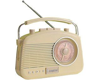 Steepletone Retro Portable Radio, Cream Enjoy all your favourite radio programmes on the go with this lightweight and portable radio. Looking like it has just stepped out of the 1950s, it is small, compact and oozing retro style. With its s http://www.MightGet.com/march-2017-1/steepletone-retro-portable-radio-cream.asp