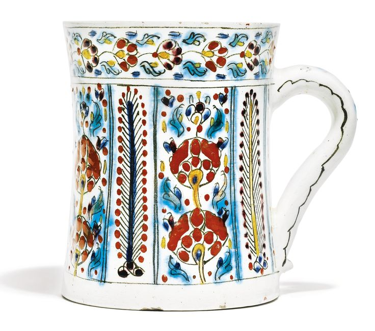 A Kutahya polychrome mug, Turkey, mid-18th century | Lot | Sotheby's